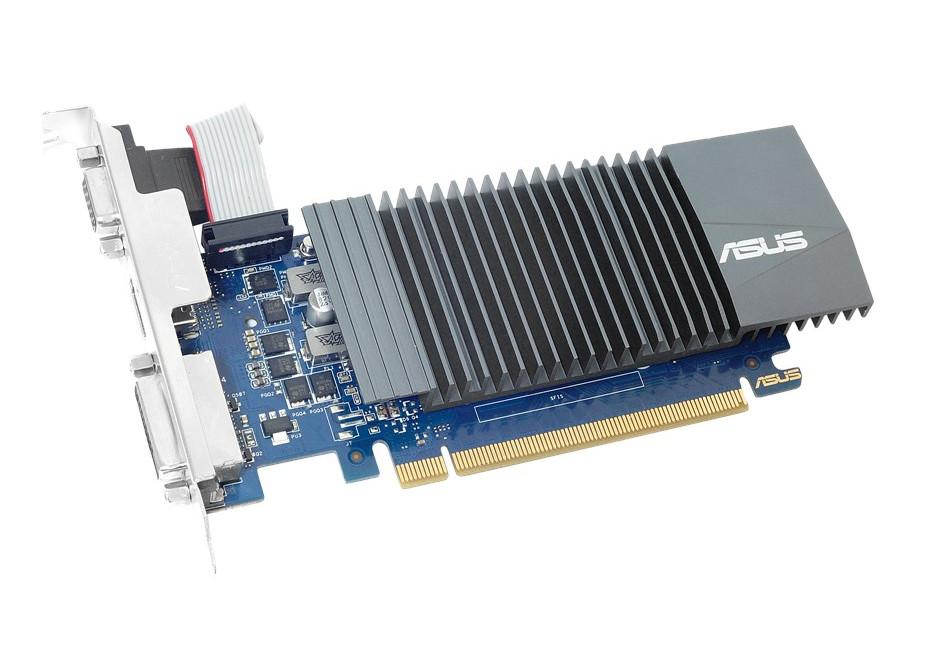 Видеокарта ASUS GeForce GT 710 954Mhz PCI-E 2.0 2048Mb 5012Mhz 64 bit DVI HDMI HDCP GT710-SL-2GD5