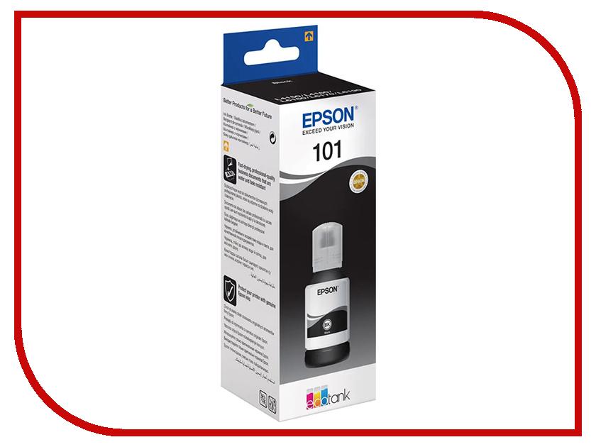 чернила и тонеры 101 C13T03V14A  Тонер Epson 101 Black C13T03V14A для EcoTank L4160