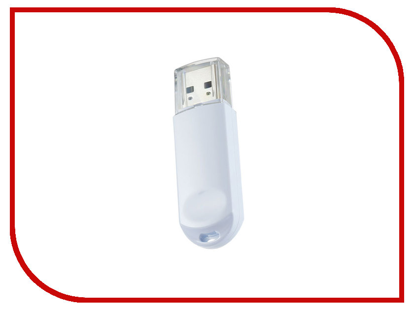 USB Flash Drive (флешка) C03 PF-C03W008  USB Flash Drive 8Gb - Perfeo C03 White PF-C03W008