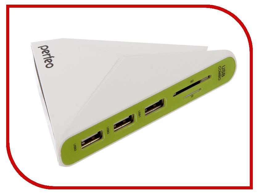 Хаб USB + Карт-ридер Perfeo PF-HYD-8029H-G