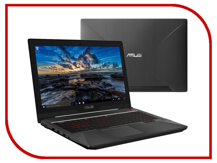 Ноутбук ASUS ROG FX503VD-E4235T 90NR0GN1-M04540 (Intel Core i5-7300HQ 2.5 GHz/8192Mb/256Gb SSD/No ODD/nVidia GeForce GTX 1050 2048Mb/Wi-Fi/Cam/15.6/1920x1080/Windows 10 64-bit)