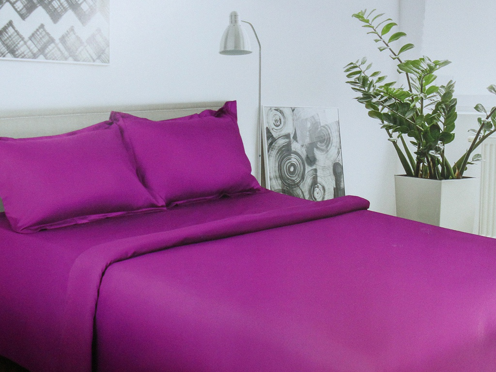 Постельное белье Этель Пурпурное сияние Комплект 2 спальный Сатин 2733577