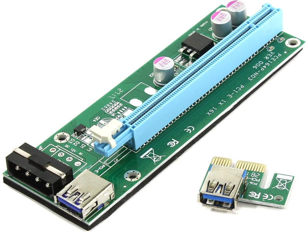 Аксессуар Адаптер Espada PCI-E X1 M to X16 F EPCIekit02