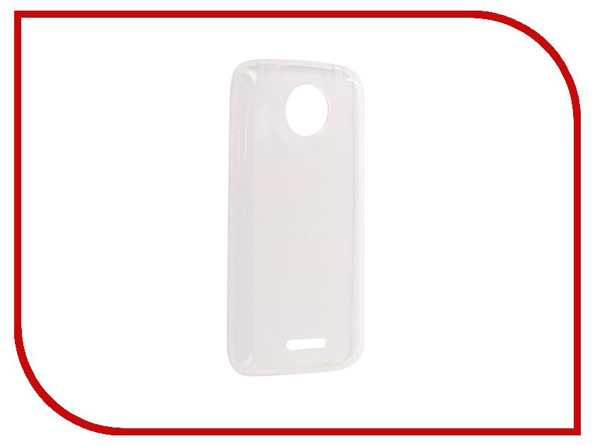 Аксессуар Чехол Motorola Moto C Plus Pero Silicone Transparent