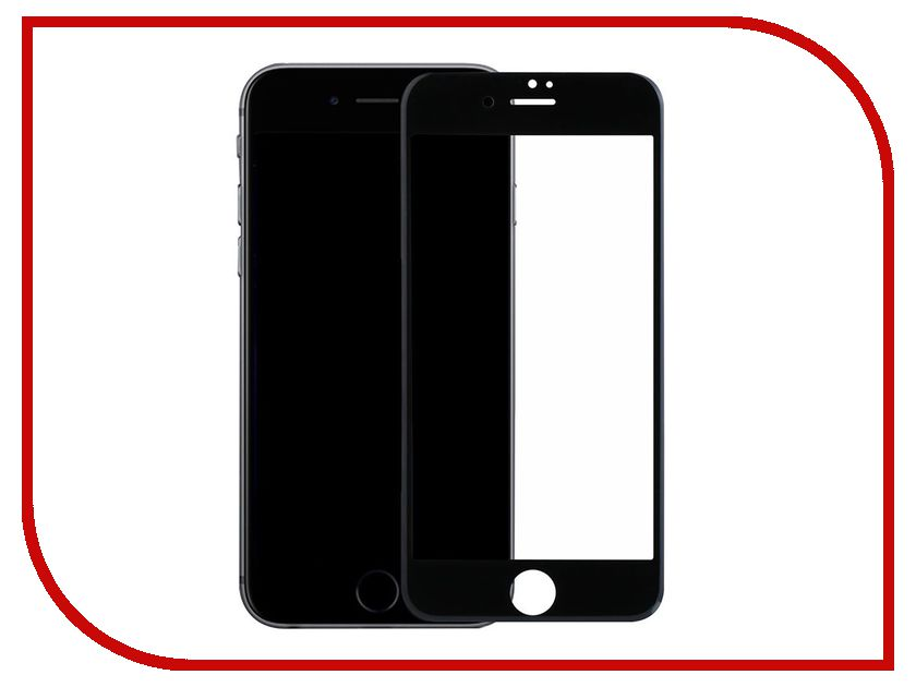 Аксессуар Защитное стекло BoraSCO Full Cover + Full Glue для APPLE iPhone 7 Black frame