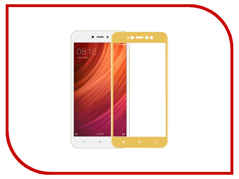 Аксессуар Защитное стекло Xiaomi Redmi Note 5A Prime Pero 2.5D Gold аксессуар защитное стекло highscreen prime l