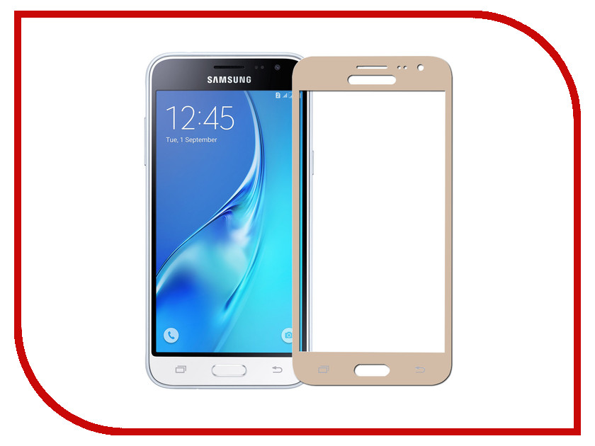 Аксессуар Защитное стекло Samsung Galaxy J3 2016 Pero 2.5D Gold аксессуар защитное стекло samsung galaxy a3 2017 solomon full cover black