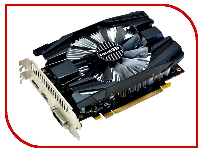 Видеокарта Inno3D GeForce GTX 1060 Compact 1506Mhz PCI-E 3.0 3072Mb 8000Mhz 192 bit 3xDP DVI HDMI HDCP N1060-6DDN-L5GM