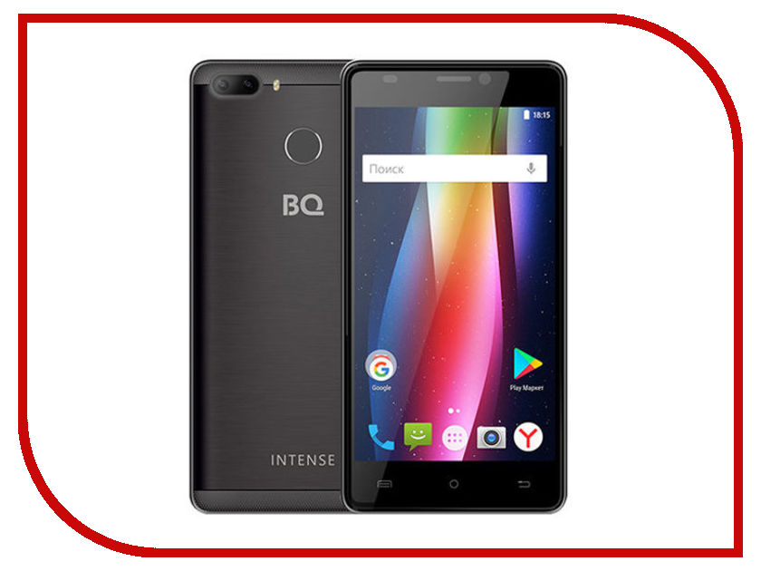Сотовый телефон BQ 5005L Intense Dark-Gray Brushed сотовый телефон bq 1807 step black