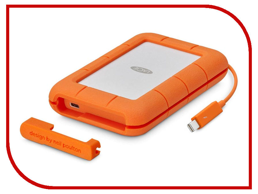 Жесткий диск LaCie Rugged Thunderbolt 500Gb Orange STFS500400 съемный жесткий диск lacie rugged usb3 thunderbolt 2tb
