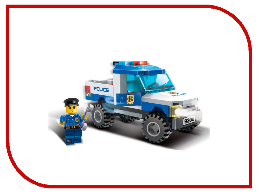 Конструктор GUDI Полиция-Пикап 84 дет. 9306 конструктор gudi космолет 105 дет 8608