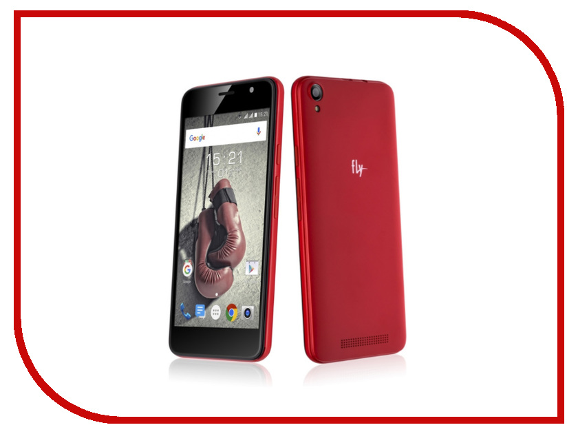 Сотовый телефон Fly FS524 Knockout LTE Red смартфон fly fs524 knockout lte black