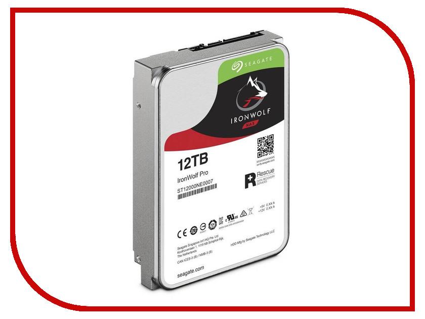 Жесткий диск 12Tb - Seagate IronWolf Pro ST12000NE0007 жесткий диск 10tb seagate ironwolf pro st10000ne0004