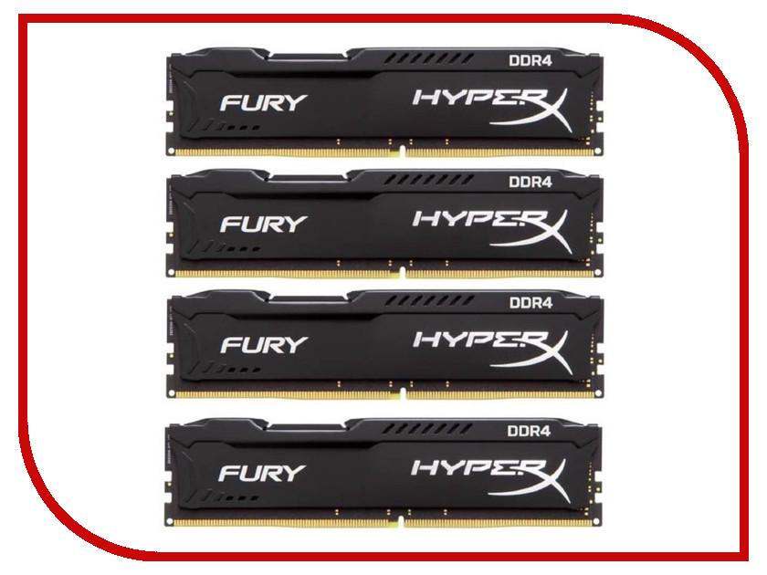 Модуль памяти Kingston HyperX Fury DDR4 DIMM 2133MHz PC4-17000 CL14 - 64Gb KIT (4x16Gb) HX421C14FBK4/64