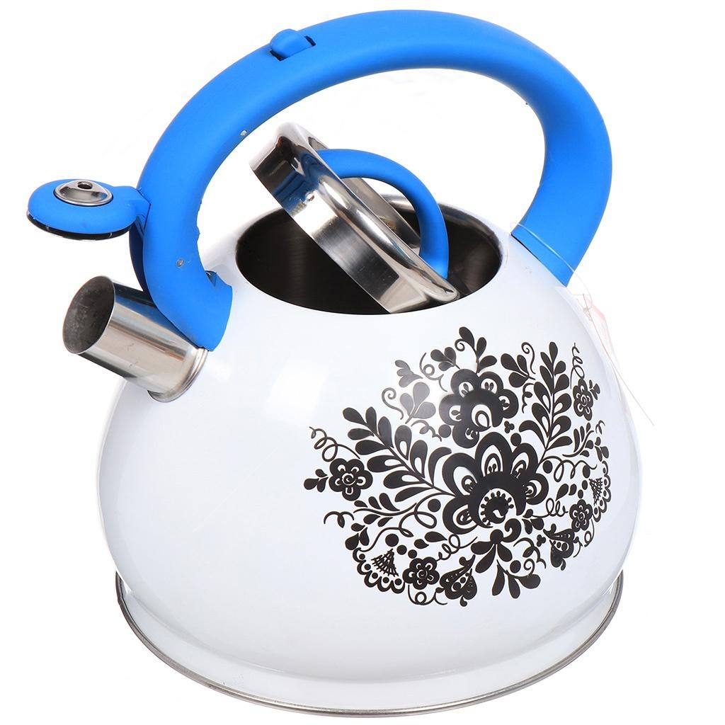 Чайник Забава Гжель 3L PK-3001 россия ваза вьюнок гжель