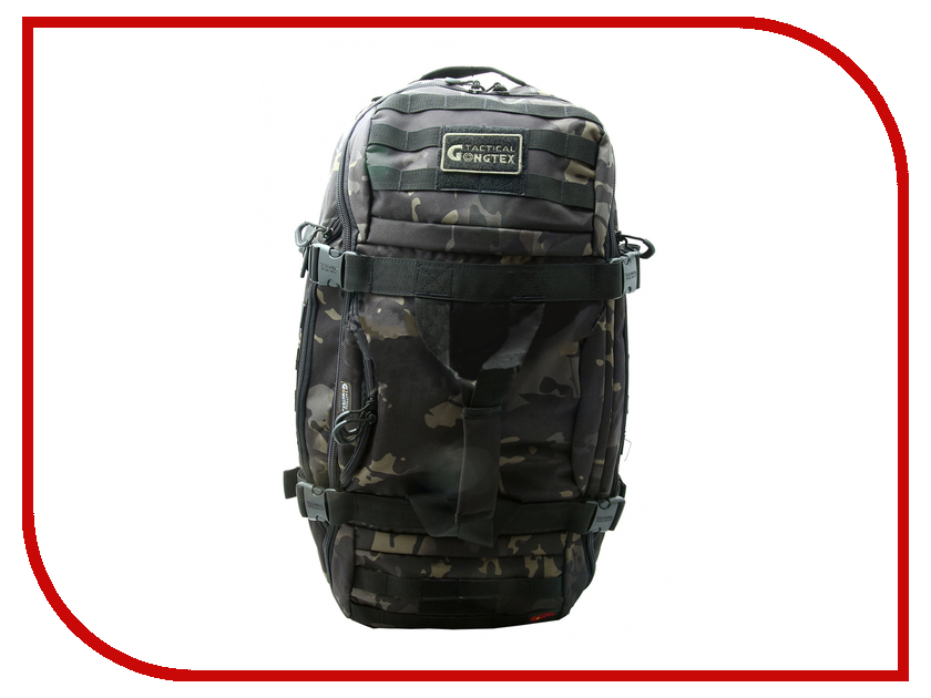 Фото Рюкзак Gongtex GB0308 Black Camouflage Тактический