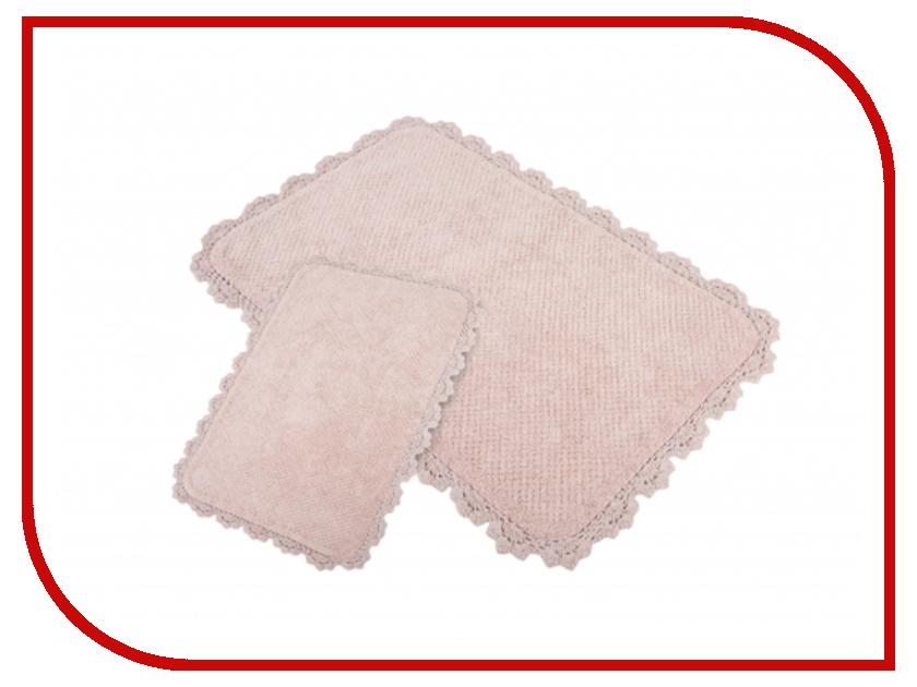 Коврик Irya Serra Pembe 2шт 60x90/40x60cm Pink смеситель для ванны serra