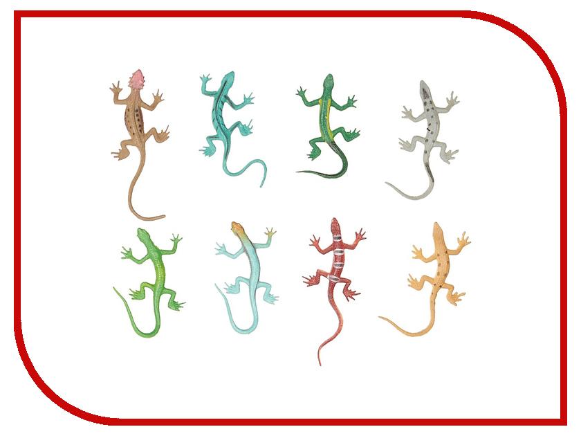 Игрушка 1Toy В мире животных: ящерицы 8 шт. Т10490 1toy в мире животных наб игр животных 6 шт х 15 см в упаковке пвх с хедером