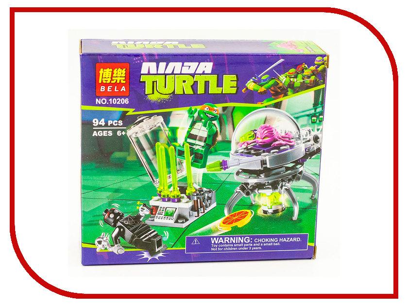 Конструктор Bela Ninja Turtle Побег Крэнга из лаборатории 94дет. 10206 755pcs bela 10325 ninja db x nya pythor kai masters of spinjitzu ninja building block toys compatible with lego