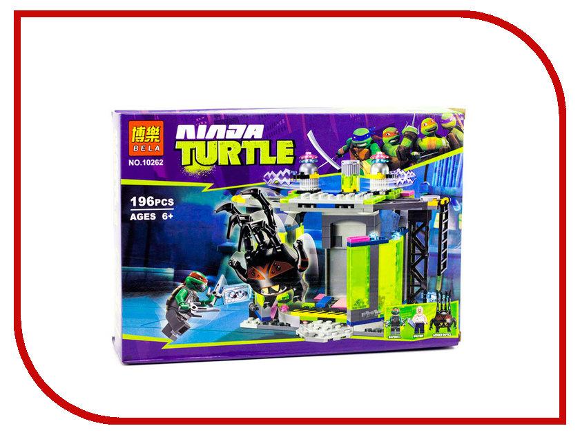 Конструктор Bela Ninja Turtle Комната мутации 196дет. 10262