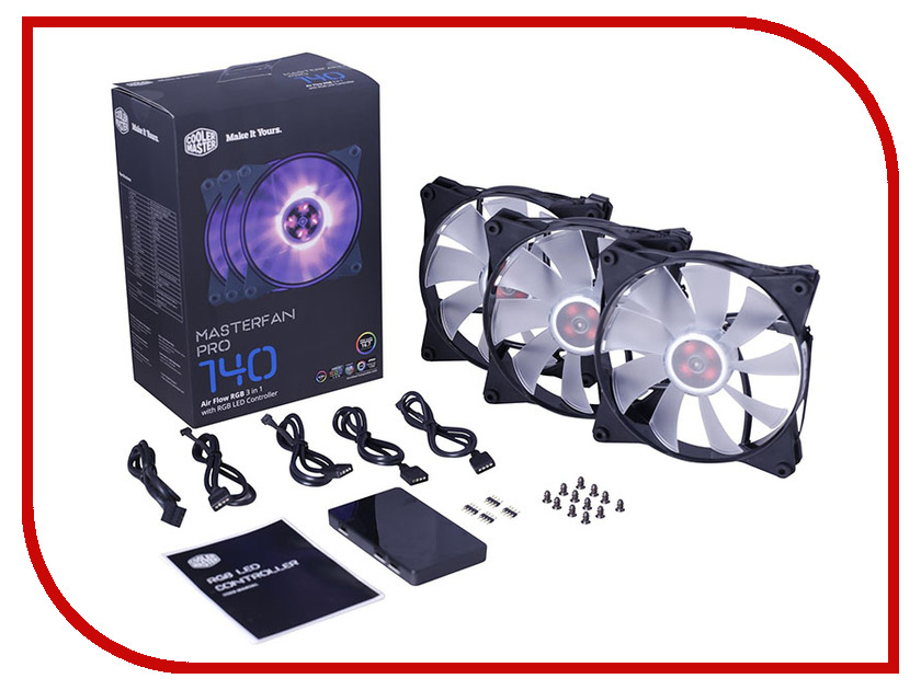 Вентилятор Cooler Master MasterFan Pro 140 Air Flow RGB 3 in 1