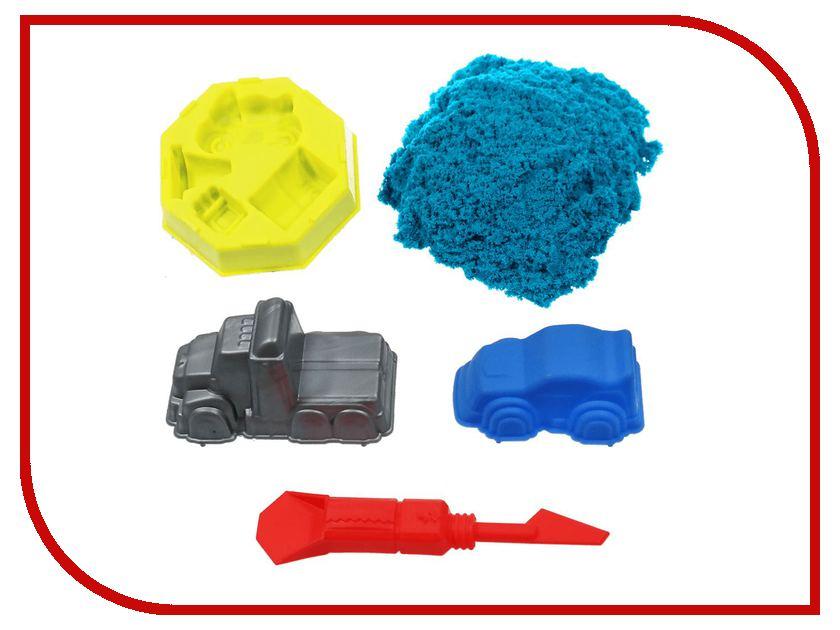 Набор для лепки 1Toy Космический песок Дорожные приключения Blue 1kg Т10620 набор для детского творчества набор дорожные приключения 1 кг