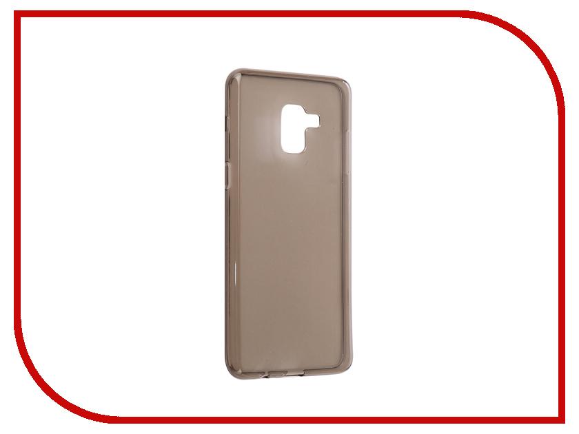 Аксессуар Чехол Samsung Galaxy A8 Plus 2018 A730 iBox Crystal Grey клип кейс ibox fresh для samsung galaxy s5 mini черный