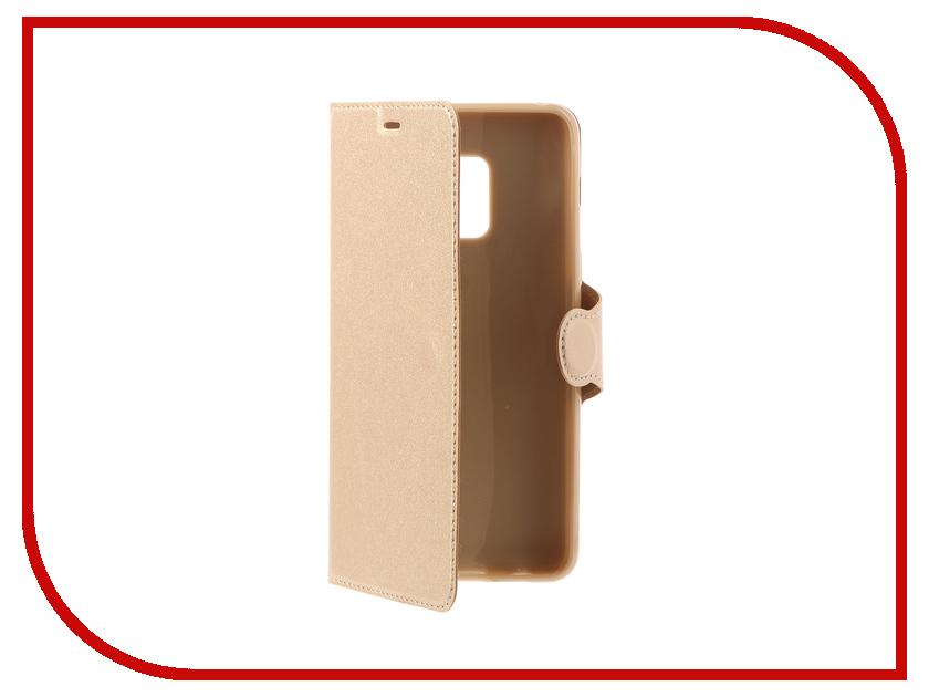 цена на Аксессуар Чехол Samsung Galaxy A8 2018 A530 Red Line Book Type Gold