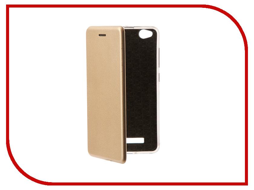 Аксессуар Чехол Xiaomi Redmi 4A Zibelino Book Gold ZB-XIA-RDM-4A-GLD аксессуар чехол xiaomi redmi 4x zibelino classico black zcl xia rdm 4x blk