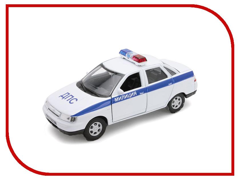 Машина Welly LADA 110 Милиция ДПС 42385PB машина welly lada vesta такси 43727ti