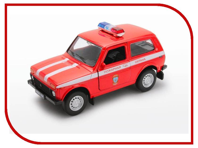 Игрушка Welly LADA 4x4 Пожарная Охрана 42386FS машинки autotime машина lada 111 пожарная охрана