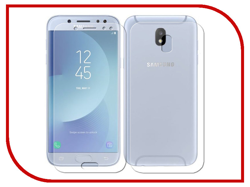 Аксессуар Защитная плёнка Samsung Galaxy J7 2017 J730 Monsterskin Super Impact Proof 360 2in1 Front&Back цены онлайн