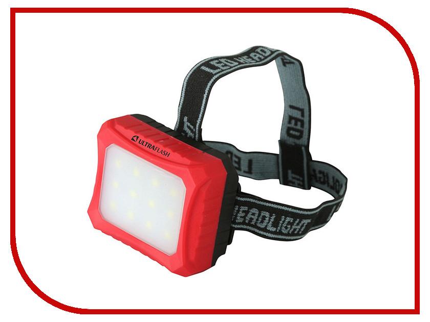 Фонарь UltraFlash LED5373 Red-Black 12417