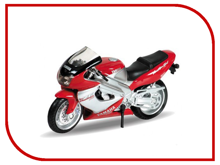 Игрушка Welly Yamaha 2001 YZF1000R Thunderace 12154P мотоцикл welly yamaha 2001 yzf1000r thunderace 1 18 12154p