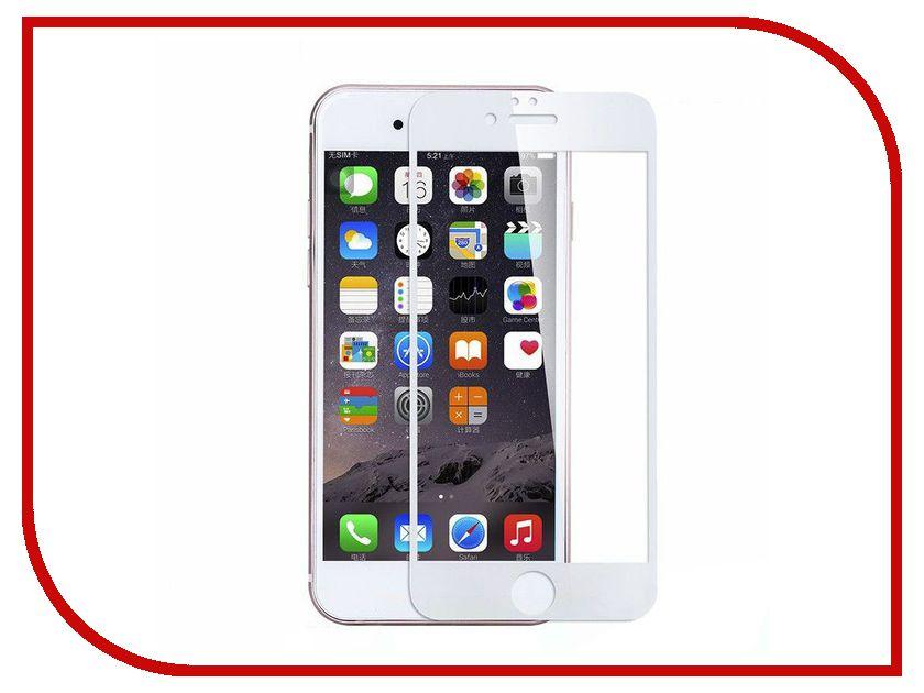 Аксессуар Защитное стекло Monsterskin 3D Curved для APPLE iPhone 8 White аксессуар защитное стекло monsterskin 5d для apple iphone 7 black