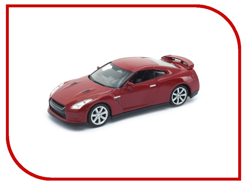 Игрушка Welly Nissan GTR 43632 автомобиль welly nissan gtr 1 34 39 белый 43632