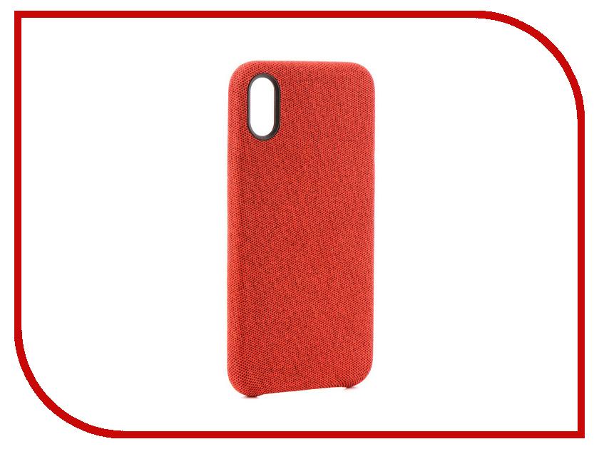 Аксессуар Чехол Innovation Jeans для APPLE iPhone X Red 10788 стоимость