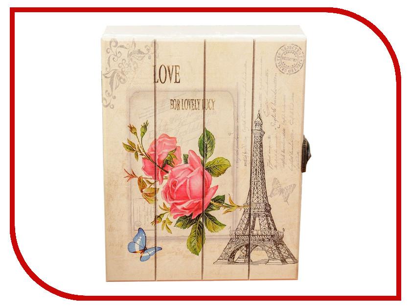 Настенная ключница Ключница СИМА-ЛЕНД Эйфелева башня. Розовые розы 2541396