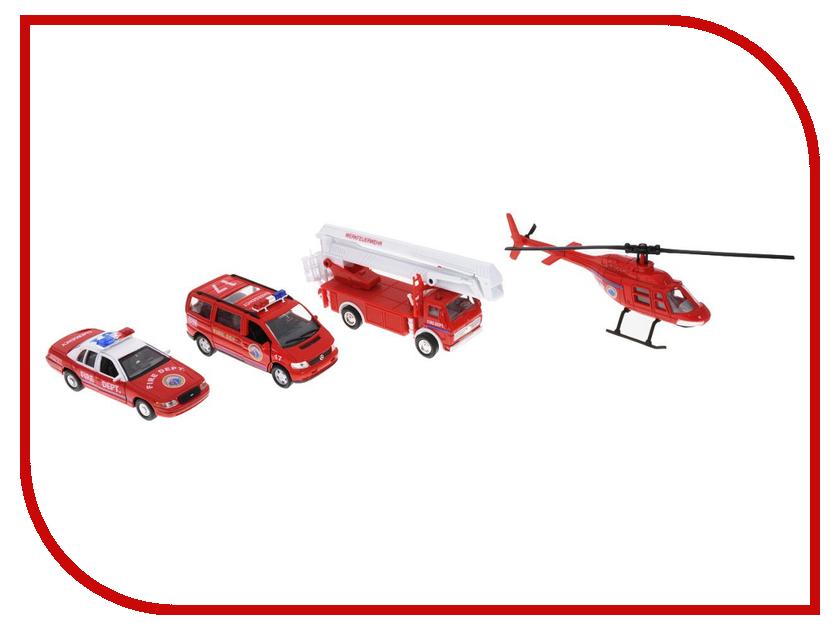 Машина Welly Пожарная служба 98160-4C пожарная машина welly 99623 1 60 красный
