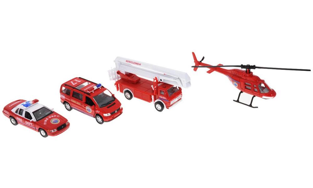 Игрушка Welly Пожарная служба 98160-4C