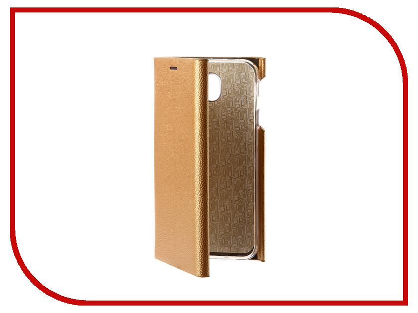 Аксессуар Чехол Samsung Galaxy J7 2017 J730F Innovation Ракушка Silicone Gold 11083 аксессуар чехол samsung galaxy j7 2017 sm j730f wallet cover gold ef wj730cfegru