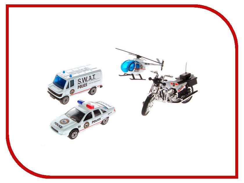 Машина Welly Служба спасения Полиция 98630-4A welly welly набор служба спасения скорая помощь 4 штуки
