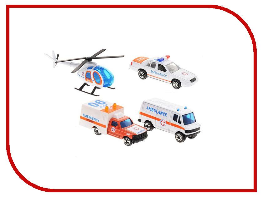 Машина Welly Служба спасения Скорая помощь 98630-4B welly welly набор служба спасения скорая помощь 4 штуки