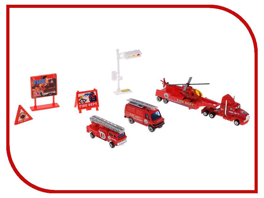 Машина Welly Служба спасения Пожарная команда 98630-9C welly welly набор служба спасения скорая помощь 4 штуки