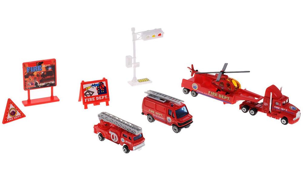 Игрушка Welly Служба спасения Пожарная команда 98630-9C
