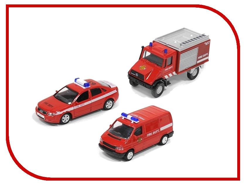 Машина Welly Пожарная служба 99610-3C пожарная машина welly 99623 1 60 красный