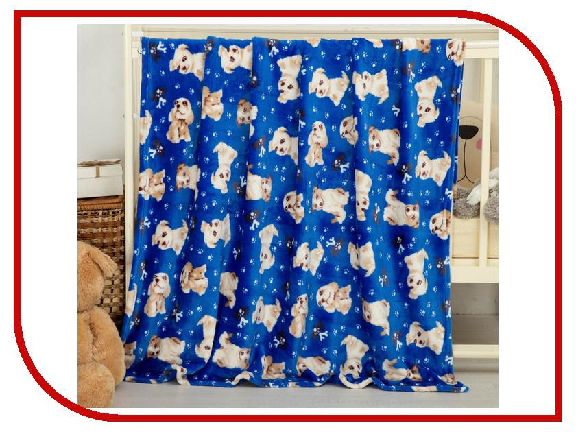 Плед СИМА-ЛЕНД Dog 130x150cm Blue 2796041 плед сима ленд автомобили 130x150cm blue 2796031