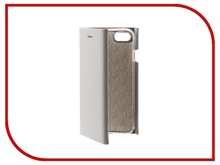 Аксессуар Чехол Innovation Ракушка Silicone для APPLE iPhone 7 Silver 11043 аксессуар чехол книга innovation ракушка silicone для apple iphone 7 plus silver 11049