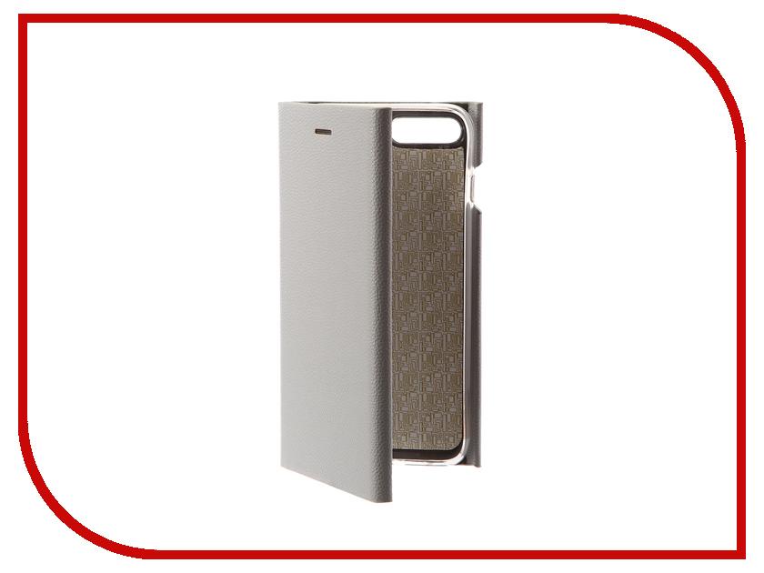 Аксессуар Чехол-книга Innovation Ракушка Silicone для APPLE iPhone 7 Plus Silver 11049 аксессуар чехол бампер burkley snap on для apple iphone 7 plus black bmcujblrst1i7p