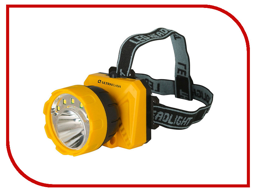 Купить Фонарь UltraFlash LED5372 Yellow-Black 12416